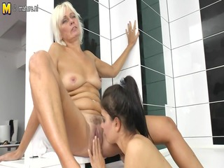 old grandma teaching juvenile girl a lesbo love