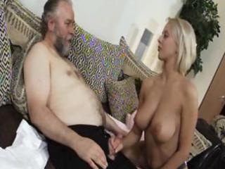 aged blonde mandy dee bounces her big tits as she
