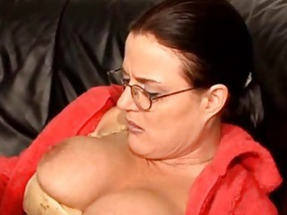 shaggy german mature on couch