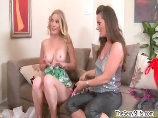 hot blonde milf gets lascivious taking
