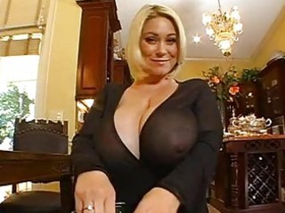 enormous chested golden-haired momma doing a pov